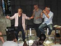 Con gli amici Pippo Montedoro e Alfonso Geraci