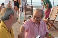 Sulla spiaggia di Addiopizzo con Pippo Montedoro
