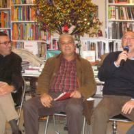 Con Antonio Riolo e Carlo Ramo, alla presentazione di Cronaca Dannata da Modusvivendi.