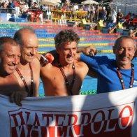 Staffetta con Riccardo Abbate, Peppe Liotta e Salvo Giacalone. Ai campionati italiani di Ostia.