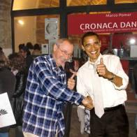 Io e Barack. (Made in Mimmo Calabrò)